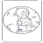 Knutselen Borduurkaarten - Stripfiguur Borduurkaart 3
