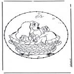 Knutselen Borduurkaarten - Stripfiguur Borduurkaart 4