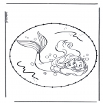 Knutselen Borduurkaarten - Stripfiguur Borduurkaart 5