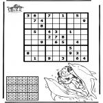 Knutselen - Sudoku Dolfijn