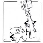 Allerlei Kleurplaten - Tand en Tandenborstel