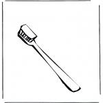 Allerlei Kleurplaten - Tandenborstel