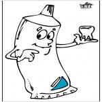 Allerlei Kleurplaten - Tandpasta