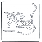 Stripfiguren Kleurplaten - Tarzan 3