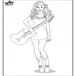 Allerlei Kleurplaten - Taylor Swift