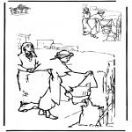Kleurplaten Bijbel - Teken af Bijbel 2