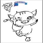 Knutselen - Teken af kat