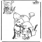 Knutselen Prikkaarten - Teken af Sint
