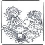 Allerlei Kleurplaten - Theekransje