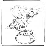 Stripfiguren Kleurplaten - Tinkerbel 1