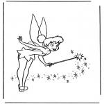 Stripfiguren Kleurplaten - Tinkerbel 2