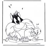 Stripfiguren Kleurplaten - Tom en Jerry 1