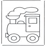 Kinderkleurplaten - Trein