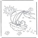 Kinderkleurplaten - Troetelbeertje 2