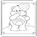 Kinderkleurplaten - Troetelbeertje ballon
