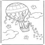 Kinderkleurplaten - Troetelbeertje in ballon