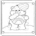 Kinderkleurplaten - Troetelbeertje Regenboog
