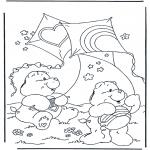 Kinderkleurplaten - Troetelbeertjes vliegeren