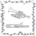 Allerlei Kleurplaten - Trompet en Trombone