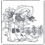 Allerlei Kleurplaten - Tuinieren