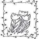 Allerlei Kleurplaten - Tulpen