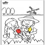 Allerlei Kleurplaten - Tulpen uit Holland