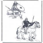 Allerlei Kleurplaten - Twee soldaten