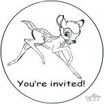 Knutselen - Uitnodiging Bambi