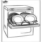 Allerlei Kleurplaten - Vaatwasmachine