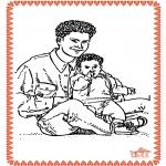Thema Kleurplaten - Vaderdag 2