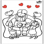 Thema Kleurplaten - Vaderdag 5