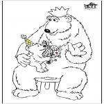 Thema Kleurplaten - Vaderdag beer