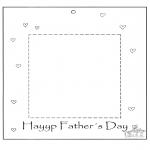 Thema Kleurplaten - Vaderdag fotolijstje