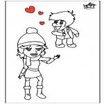 Thema Kleurplaten - Valentijn 13