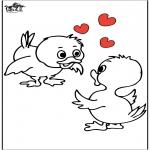 Thema Kleurplaten - Valentijn 18