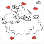 Thema Kleurplaten - Valentijn 21