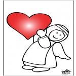 Thema Kleurplaten - Valentijn 9