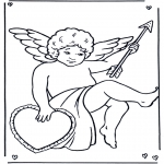 Thema Kleurplaten - Valentijn Cupido