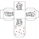 Thema Kleurplaten - Valentijn doosje