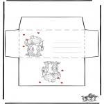 Thema Kleurplaten - Valentijn envelop 1