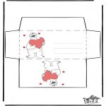 Thema Kleurplaten - Valentijn envelop 2