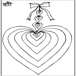 Thema Kleurplaten - Valentijn hart