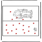 Thema Kleurplaten - Valentijn kaart 1