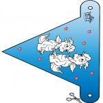 Thema Kleurplaten - Valentijn vlaggetje 3