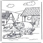 Kleurplaten Dieren - Varkens 3