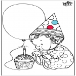 Thema Kleurplaten - Verjaardag 1 jaar