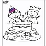 Thema Kleurplaten - Verjaardag 3
