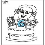 Thema Kleurplaten - Verjaardag 4