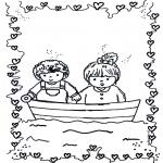 Kinderkleurplaten - Verliefd 1
