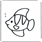 Kinderkleurplaten - Visje onder water